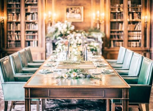 Library Table Decor
