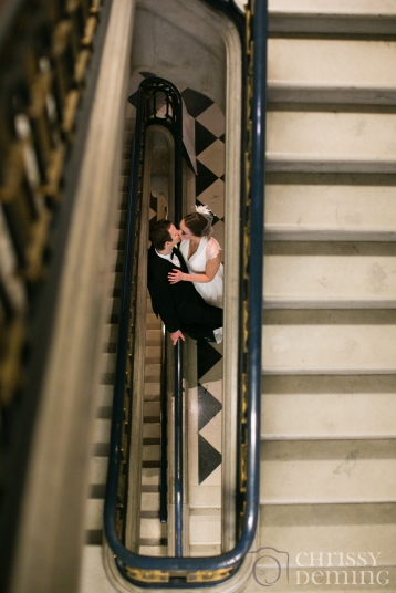 Newlyweds on the Grand Staircase