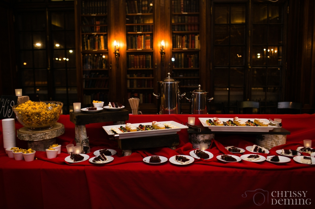 Dessert Buffet in the Library