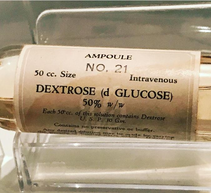 vintage bottle of glucose