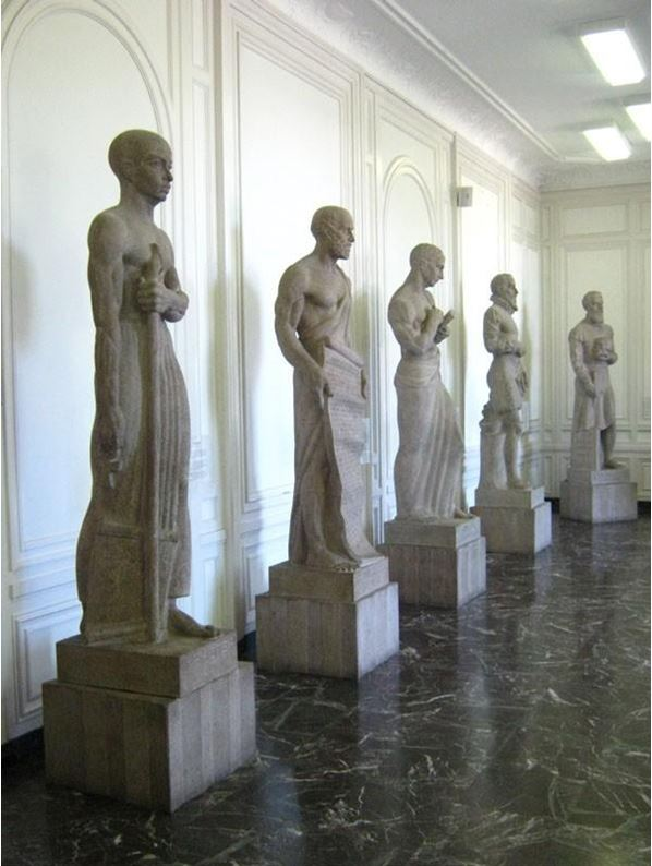 statues in the hall of the immortals
