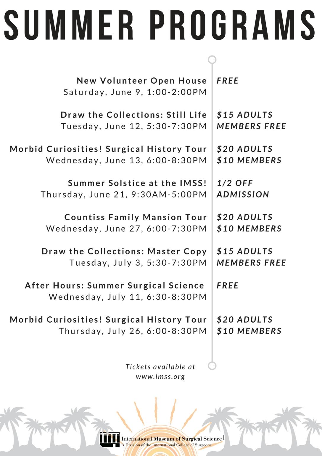 Summer 2018 Programs