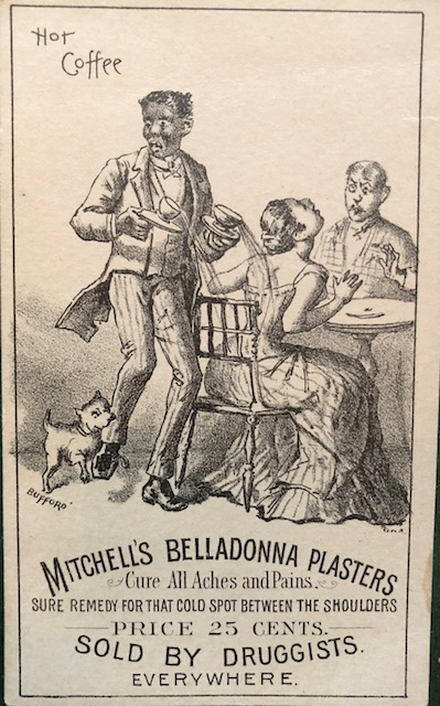 Label from Mitchell's Belladonna Plasters