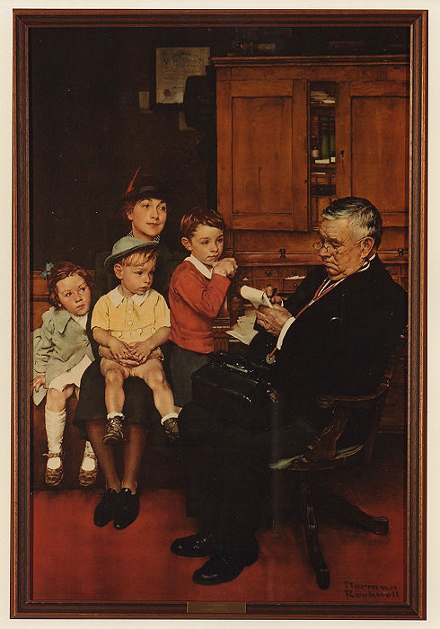"Norman Rockwell, ""The Prescription,"" 1943, archival print from original painting."
