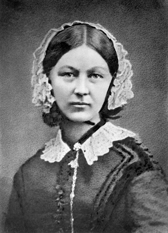 Florence Nightingale at approximately 40 years old